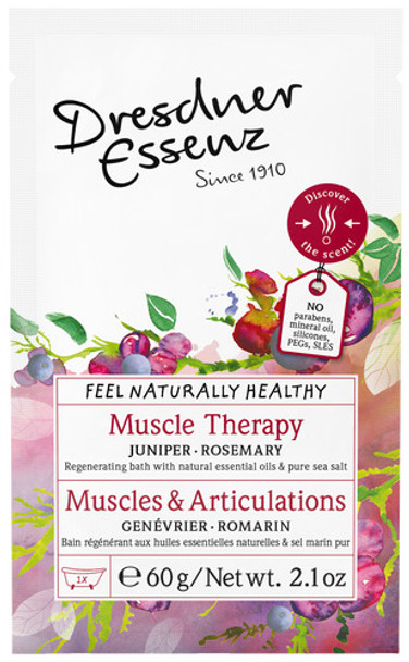 Dresdner Essenz Muscle Therapy Regenerating Bath with Juniper and Rosemary - 2.1 oz packet