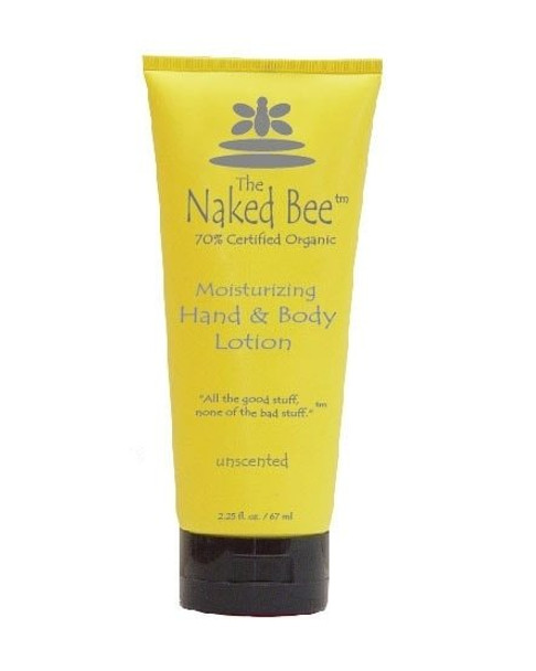 Naked Bee Unscented Moisturizing Hand and Body Lotion - 2.25 oz tube