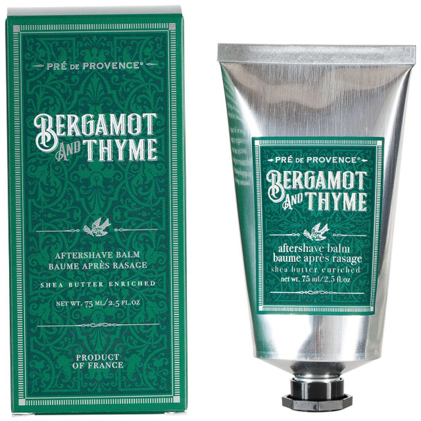Pre de Provence Bergamot and Thyme Shea Butter Enriched Aftershave Balm - 2.5 oz tube