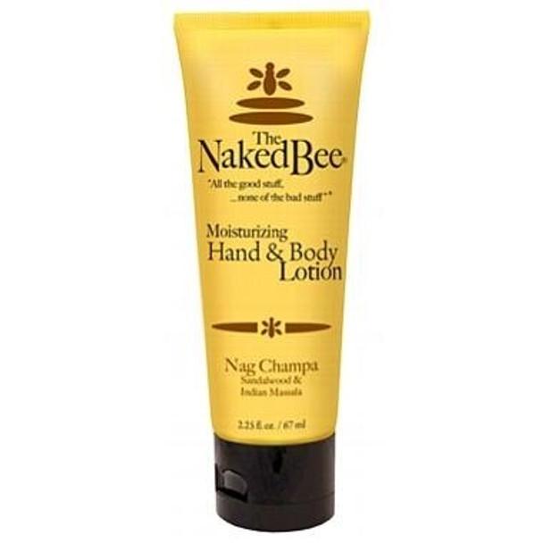 Naked Bee Nag Champa Hand and Body Lotion - 2.25 oz tube