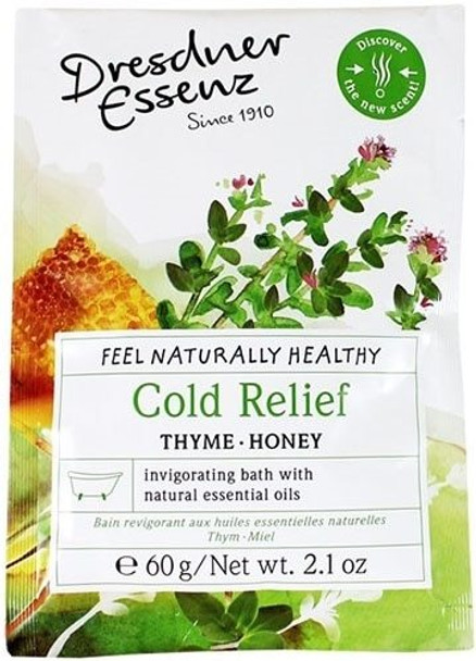 Dresdner Essenz Cold Relief Invigorating Bath with Thyme and Honey - 2.1 oz packet