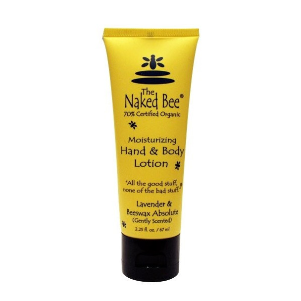Naked Bee Lavender and Beeswax Absolute Moisturizing Hand and Body Lotion - 2.25 oz tube