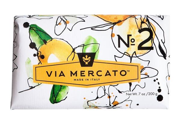 Via Mercato Soap #2 - Green Tea and White Musk - 7 oz