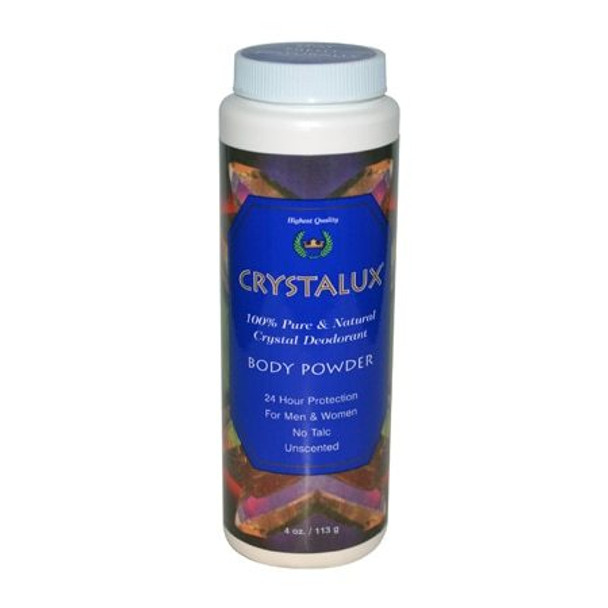 Crystalux Body Powder Deodorant - 4 oz
