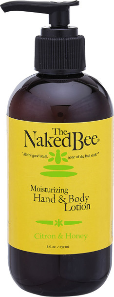 Naked Bee Citron and Honey Moisturizing Hand and Body Lotion - 8 oz pump bottle