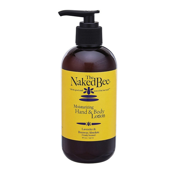 Naked Bee Lavender and Beeswax Absolute Moisturizing Hand and Body Lotion - 8 oz pump bottle
