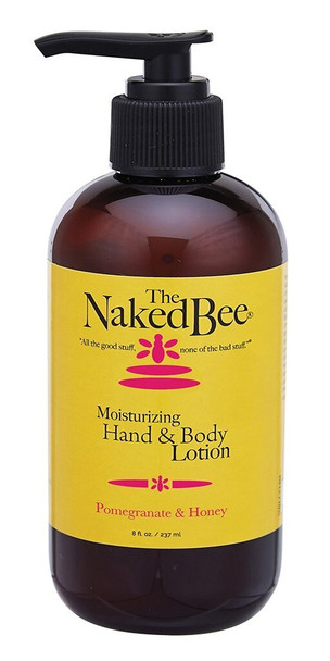 Naked Bee Pomegranate and Honey Hand and Body Lotion - 8 oz pump bottle