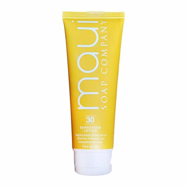 Maui Soap Company Broad Spectrum SPF30 Sunscreen Lotion - 4 oz tube