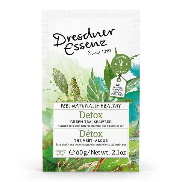 Dresdner Essenz Detox Bath with Green Tea and Seaweed Extract - 2.1 oz packet