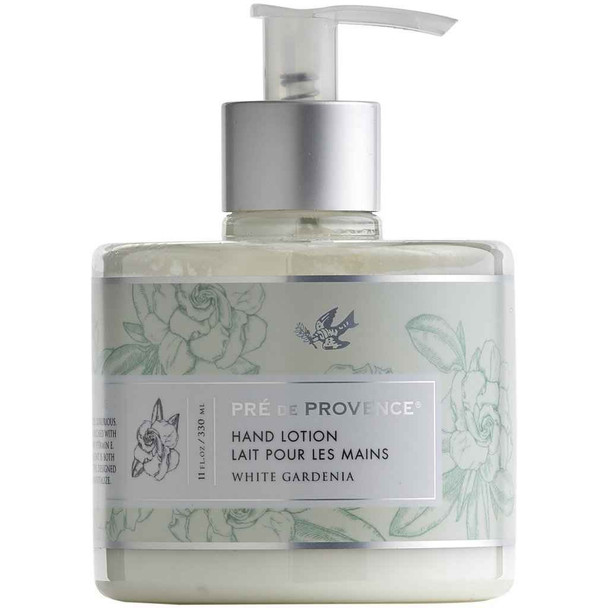 Pre de Provence Heritage Hand Lotion - 11 oz pump bottle - White Gardenia