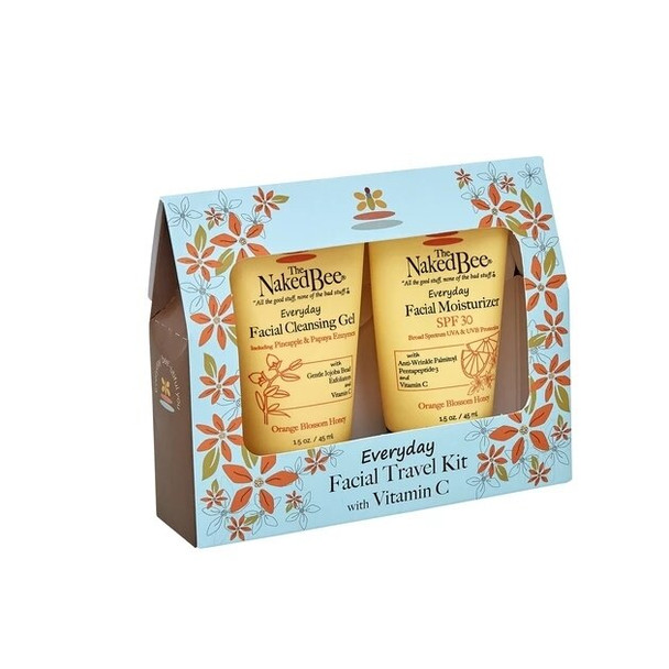 Naked Bee Naked Bee Everyday Facial Travel Kit with Vitamin C