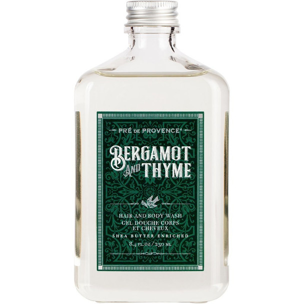 Pre de Provence Bergamot and Thyme Hair and Body Wash - 8 fl oz