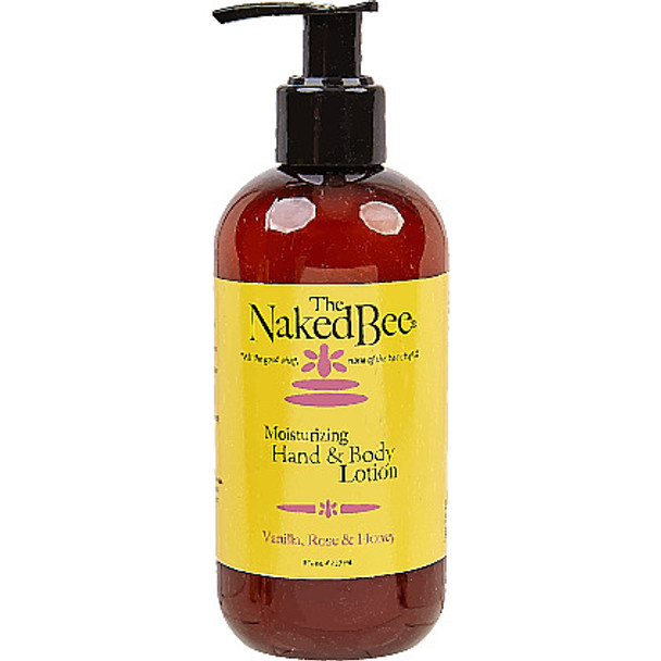 Naked Bee Vanilla, Rose and Honey Hand and Body Lotion - 8 oz pump bottle