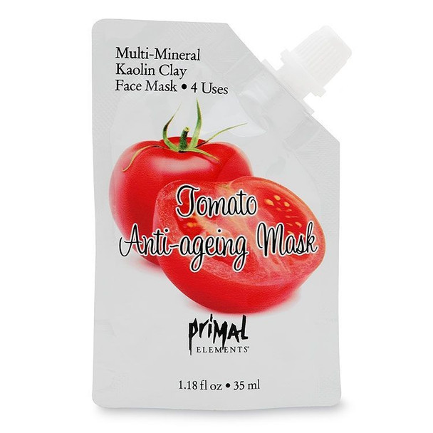 Primal Elements Tomato Anti-aging Face Mask - 1.18 fl oz pouch