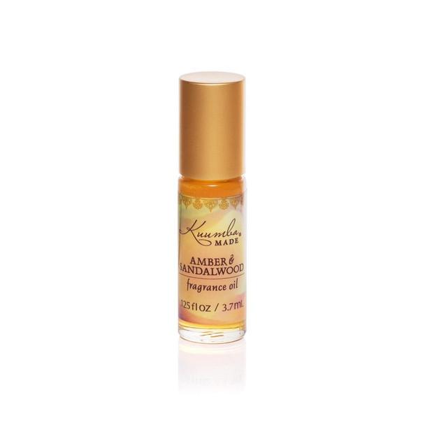 Kuumba Made Amber and Sandalwood Fragrance Oil - 1/8 oz roll-top