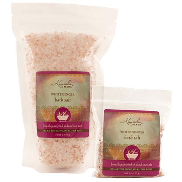 Kuumba Made White Ginger Bath Salt - 24 oz bulk size