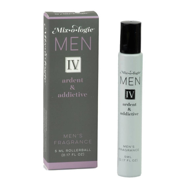 Mixologie Fragrance For Men - IV Ardent and Addictive - .17 oz rollerball