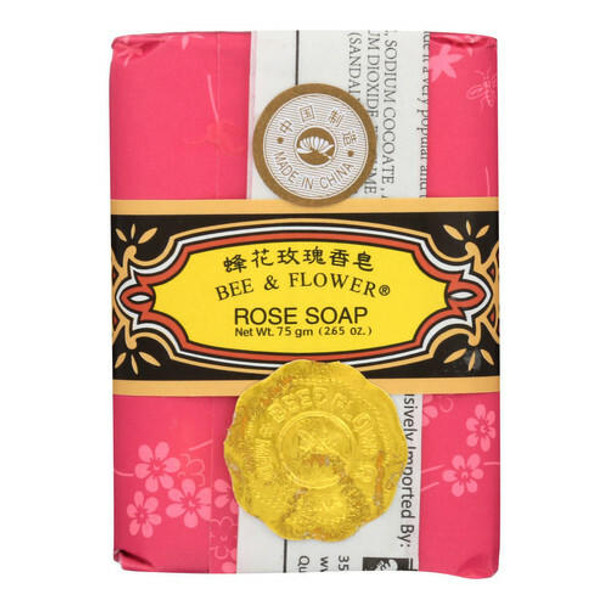 Bee and Flower Rose Soap - 2.65 oz