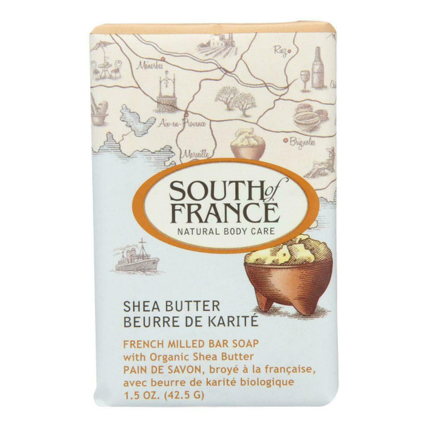 South Of France Bar Soap - Shea Butter - Travel - 1.5 oz