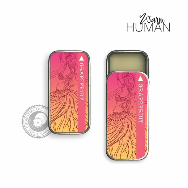 Warm Human Grapefruit 100percent Pure Essential Oil Solid Perfume - .28 oz tin