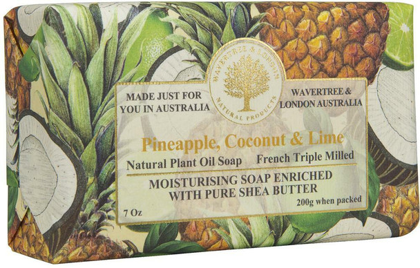 Wavertree and London Pineapple, Coconut and Lime Soap Bar - 200 gm