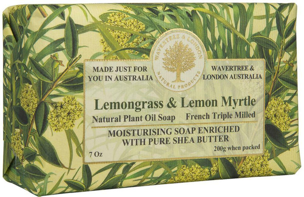 Wavertree and London Lemongrass and Lemon Myrtle Soap Bar - 200 gm