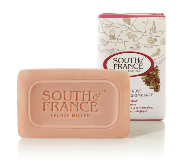 South Of France Bar Soap - Climbing Wild Rose - Travel Size - 1.5 oz