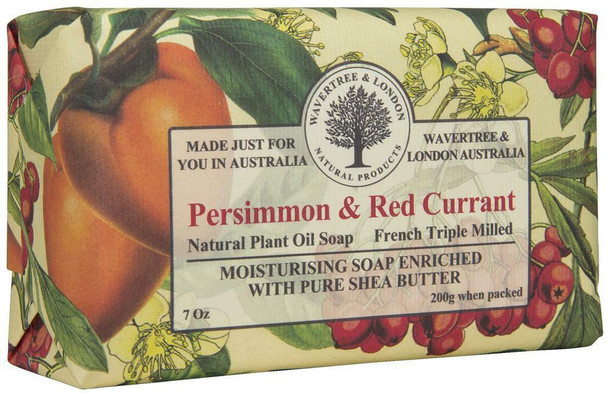 Wavertree and London Persimmon and Red Currant Soap Bar - 200 gm
