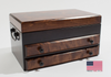 Flaming Amish Birch Jewelry Chest