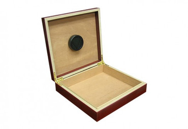 20 Count Cherry Cigar Humidor w/ Humidifier