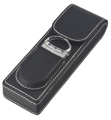 2 Leatherette Cigar Case w/Cutter