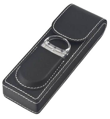 2 Leatherette Cigar Case w/Cutter