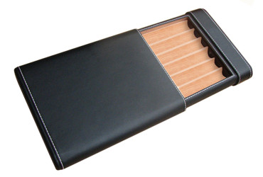 Black Sliding Cigar Case