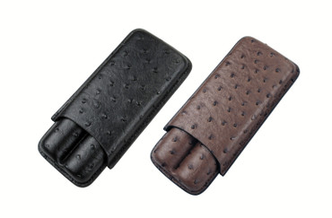 2 Cigar Ostrich Case