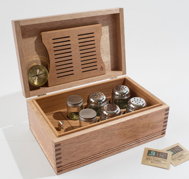 Cannabis/Herb Storage - Solid Mahogany