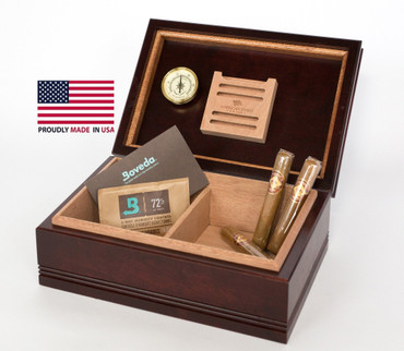 75 Count Wood Top Humidor