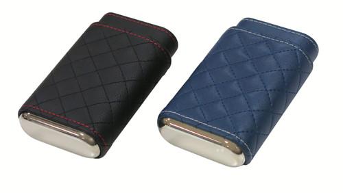 3 Cigar Diamond Stitched Case