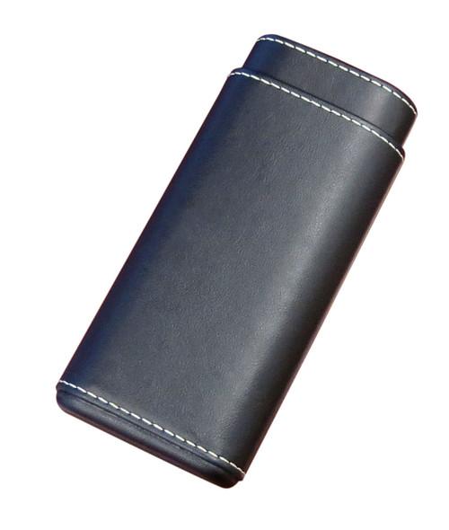 3 Cigar Case w/White Stitching