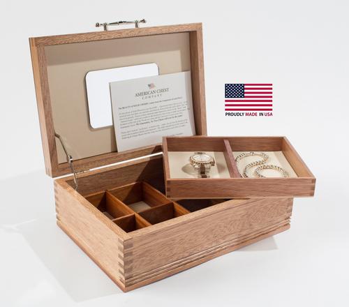 Americana Mahogany Jewelry Box