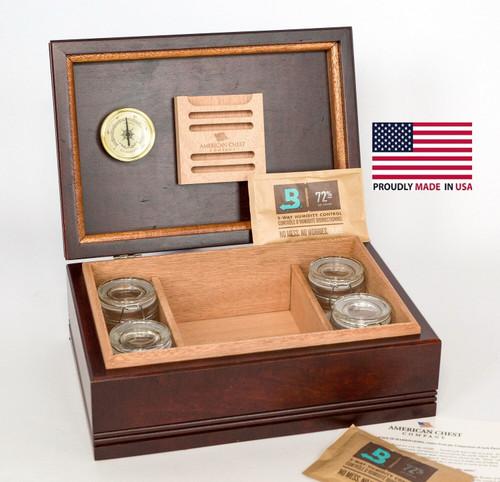 Amish Wood Top Cannabis/Herb Storage