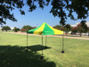 10'x10' D Model Green Yellow - Pop Up Canopy Tent EZ  Instant Shelter w Wheel Bag + Sand Bags