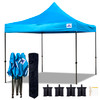 10'x10' D/S Model Turquoise - Pop Up Canopy Tent EZ  Instant Shelter w Wheel Bag + Sand Bags + 4 Walls