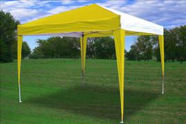 10'x10' Pop Up Canopy Party Tent EZ CS - Yellow/White N