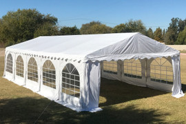 32'x16' PVC Party Tent (FR) Wedding Canopy Shelter - Fire Retardant - White