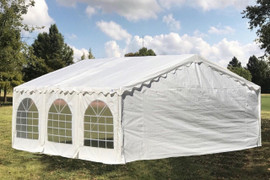 Budget PE Party Tent with Waterproof Top - 20'x16', 26'x16', 32'x16', 40'x16'