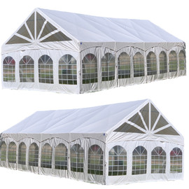 40'x20' PVC Marquee - Heavy Duty Large Party Tent Wedding Canopy Gazebo Shelter w Storage Bags