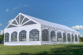 40'x20' PE Marquee - Heavy Duty Large Party Tent Wedding Canopy Gazebo Shelter w Storage Bags