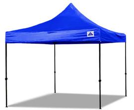 10'x10' D/S Model Blue - Pop Up Canopy Tent EZ  Instant Shelter w Wheel Bag + Sand Bags + 4 Walls