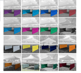Half Walls (2 PCS) - for Pop Up Tent Canopy Shelter 10'x10', 10'x15', 10'x20' with 16 colors