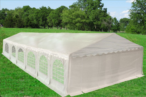 PE Party Tent 40'x20'  White - Heavy Duty with Waterproof Top